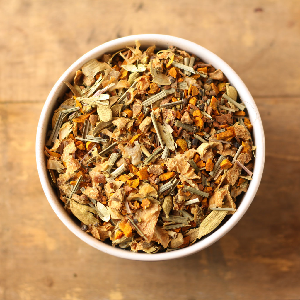 Turmeric Citrus Spice Herbal Tea Tisane